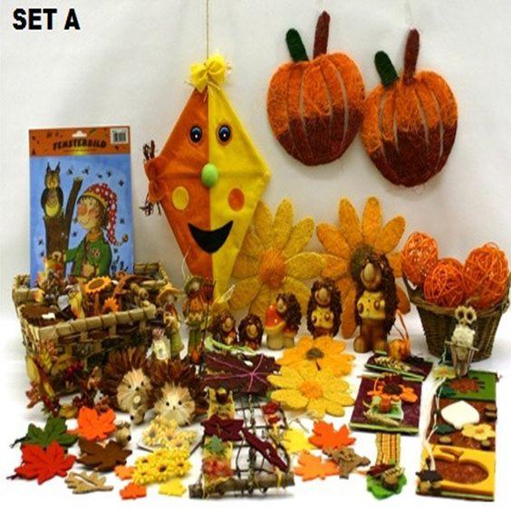 Herbst-Deko-Holz-Party-Folie-Kinder-Obst-Kueche-Bad-Kranz-Tapete-Stoff-Halloween