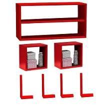 Nicho Cubo Quadrado Vermelho - Fabricação Própria