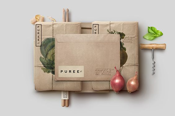 Puree Organics package design