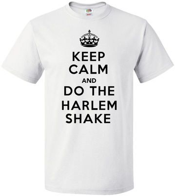 £9.99 Keep Calm & Do The Harlem Shake Mens Tshirt - Upto Size 5XL - Worldwide delivery