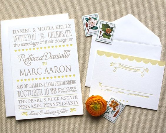 www.weheartpaper.com - We Heart Paper, Letterpress, Wedding Invitations, Stationery