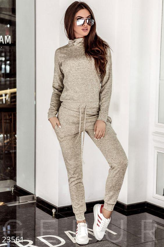 Gepur | Актуальный спортивный костюм арт. 22045 Цена от производителя, достоверные описание, отзывы, фото , цвет: , цвет: серебристо-серый