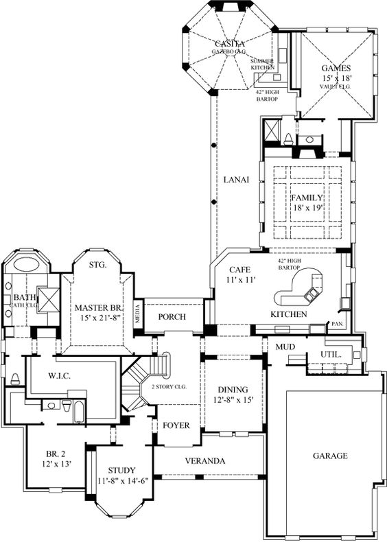 House plans bonus rooms and style on pinterest for House plans with bonus room