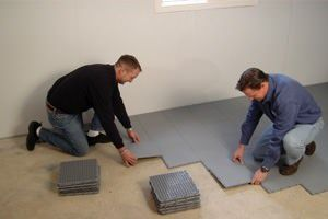 Waterproof materials are best for basement flooring.