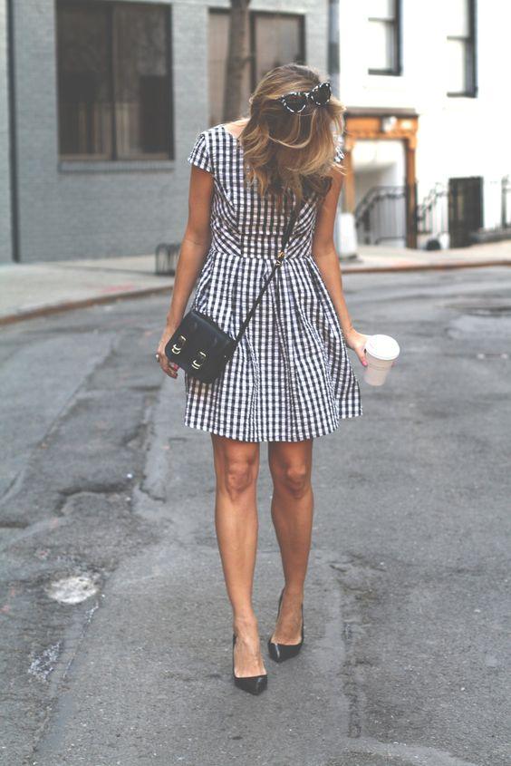 Gingham, Dress, OOTD, street style, nyc .jpg: