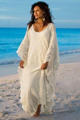 Label Noir Martinique Caftan & Slip - Caftan Dresses, Long Caftan Gown | Soft Surroundings: