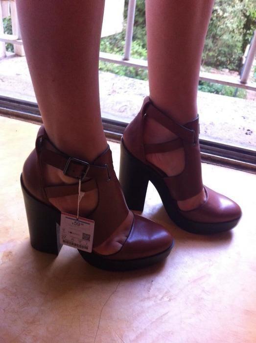 Chaussure A Talon Gros