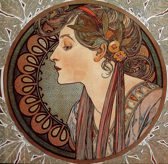 Art Nouveau Alphonse Mucha | art nouveau by alfons mucha four seasons by alfons mucha circa 1895 ...