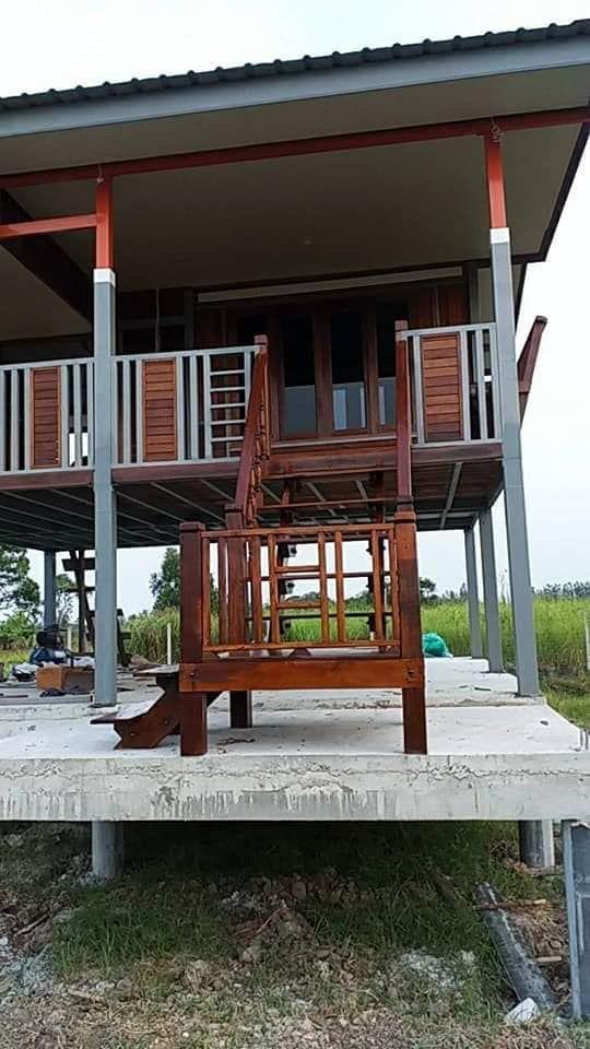ไอเด ย บ านไม โครงสร างเหล ก ยกพ นส ง ขนาดกะท ดร ด Thai Let S Go ร ป แบบบ าน ไอเด ย บ าน