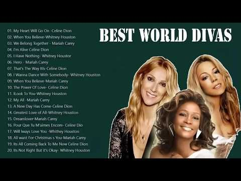 Mariah Carey Celine Dion Whitney Houston Greatest Hits Playlist Best Love Songs Of All Time Youtube In 2020 Celine Dion Best Love Songs Love Songs