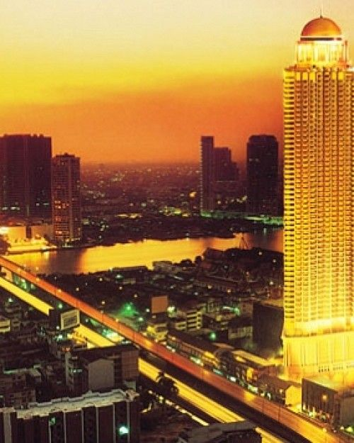 The 357-suite lebua at State Tower, the second largest tower in Bangkok, rises 67 floors. #Jetsetter #JSSunrise