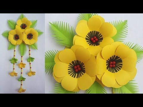 Como Hacer Flores Con Hojas De Papel Diy Beautiful Wall Hanging How To Make Paper Flower Wall