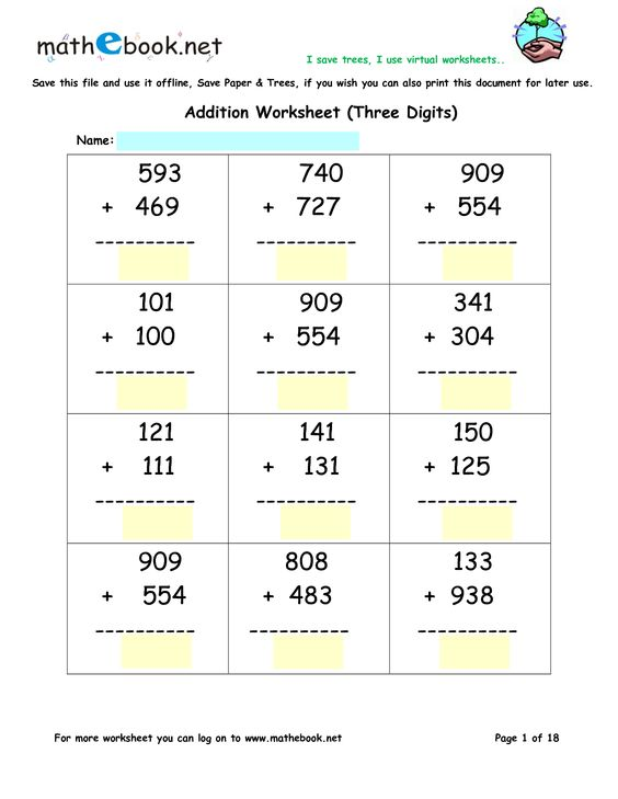 math worksheet : addition worksheets  triple digit addition  math worksheet  : Triple Digit Addition Worksheets