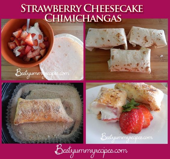 Strawberry Cheesecake Chimichangas