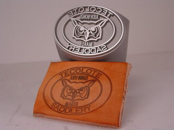 Custom Leather Hand Stamp and its impression