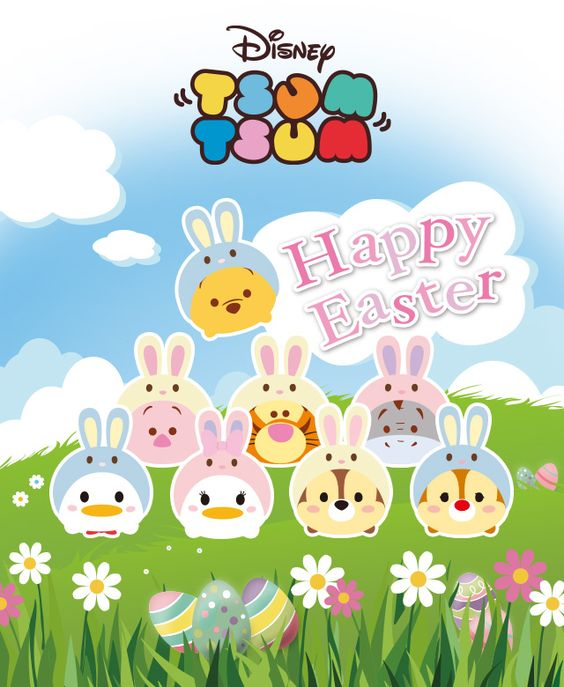 Disney TSUM TSUM Happy Easter  Tsum Tsum  Pinterest  Disney, Feliz