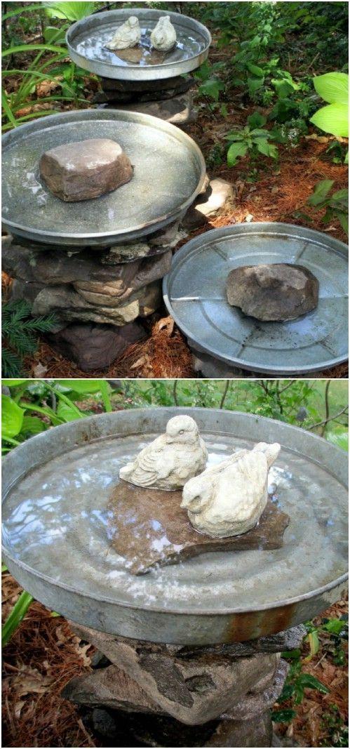 12 Top Creative Diy Bird Bath Ideas That Are Fun And Easy To Make Diy Bird Bath Rustic Bird Baths Bird Bath