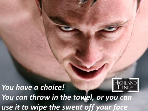 Chose to wipe the sweat!