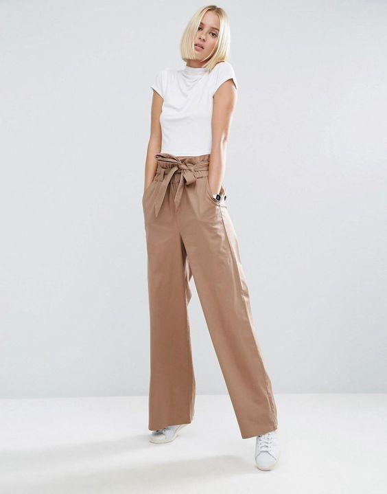 ASOS | ASOS Wide Leg Pants with Paperbag Waist at ASOS