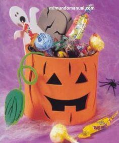 Dulceros para halloween en foami | Mimundomanual