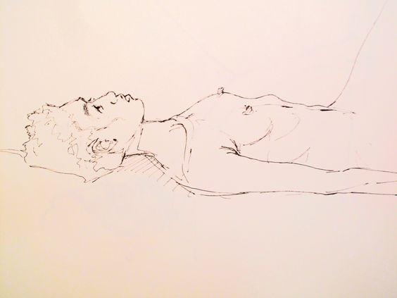 jon voss sketch drawing ink - life class