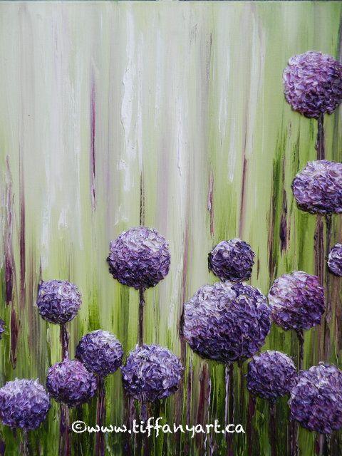 Allium Painting Impasto Painting Impasto Oil Painting