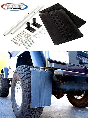 this is the genright mud flap kit for a jeep tj lj yj. Black Bedroom Furniture Sets. Home Design Ideas