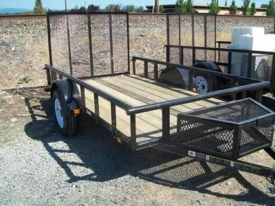 How to build a trailer tongue tool box 5x10 utility for Wood floor utility trailer