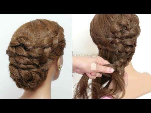 Easy Braided Prom Updo Hair Tutorial Formal Hairstyles Youtube Peinados