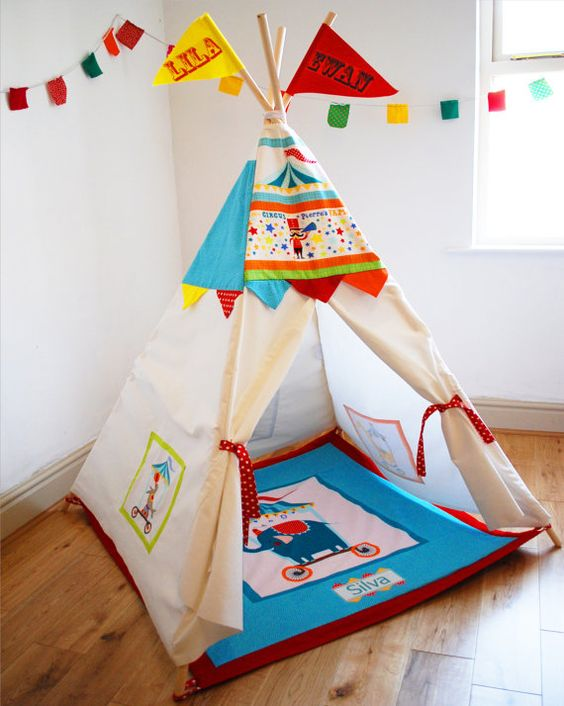 Circus play teepee children's bedroom beach garden: