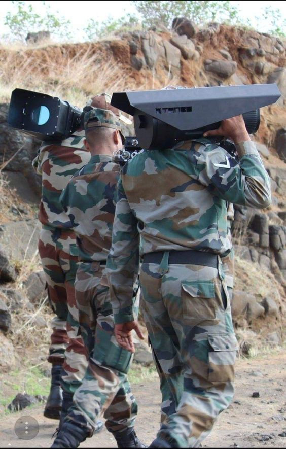 Indian army soldier with Tonbo Imaging survilence system