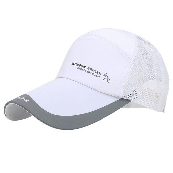 Luuack Baseball Cap Floral Perforated Ball Caps Golf Hats Summer Mesh Hat  for Men (white c7ab87de949c
