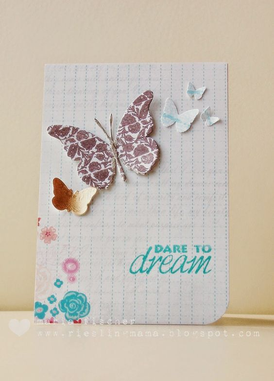Card by Maria using VIGNETTE: Grunge Floral Strips and SUBWAY ART BUILDERS: Dare