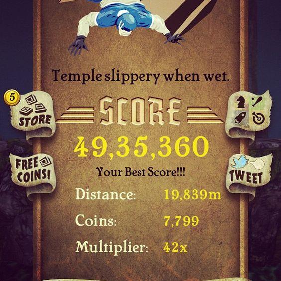 I just missed 5 Million!  #TempleRun #Addicted