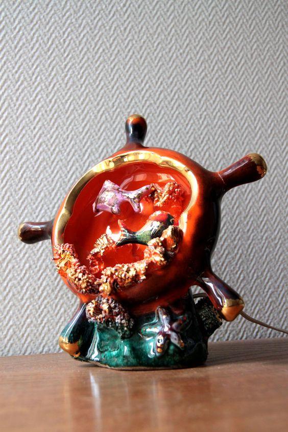 Lampe veilleuse vintage VALLAURIS... http://www.lanouvelleraffinerie.com/lampes-a-poser/922-emma-lampe-veilleuse-vintage-vallauris.html