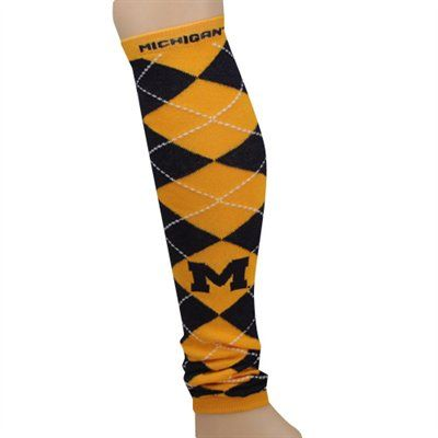 Michigan Wolverines Ladies Navy Blue-Gold Argyle Leg Warmers