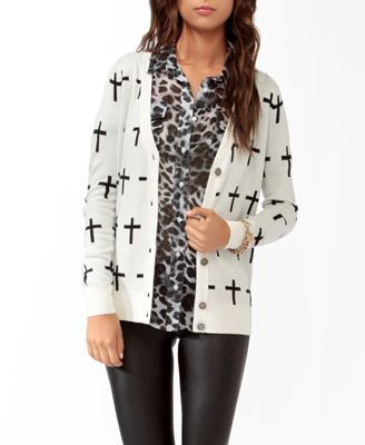 Cross Pattern Cardigan | FOREVER21 - $24.80