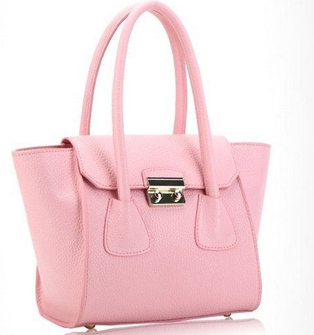 pink  candy color bat genuine leather shopping bags by starbag, $69.50