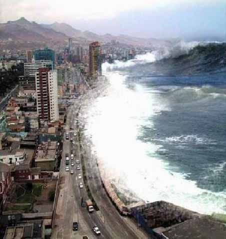 December 26, 2004 - The southeast Asian tsunami occured following a 9.1 Richter scale earthquake in the Indian Ocean. The waves were 80 feet high in Banda Aceh, Indonesia.