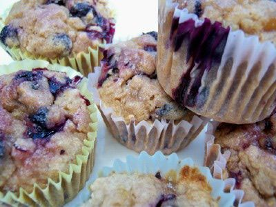 Gluten Free Double Blueberry Muffins - Recipe for Gluten Free Double Blueberry Muffins