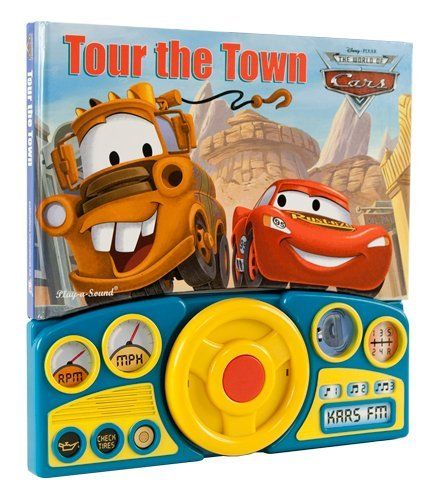 cars steering wheel sound book tour the town by publication international the cars. Black Bedroom Furniture Sets. Home Design Ideas