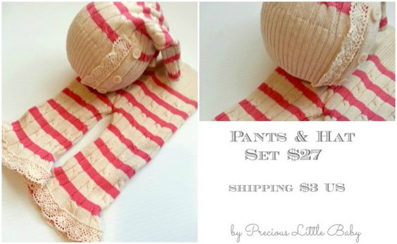 newborn photography prop upcycled hat and by PreciousLittleBaby, $26.99