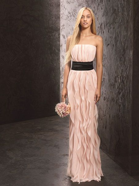 sparkly bridesmaid dress long | The New White by Vera Wang Bridesmaid Dresses are Too Pretty to Wear ...