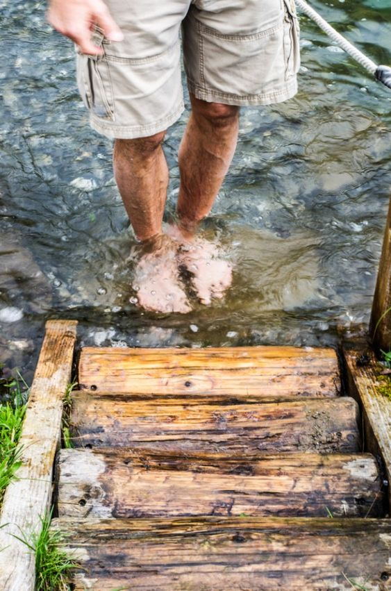 barefoot walk Engelberg,Switzerland