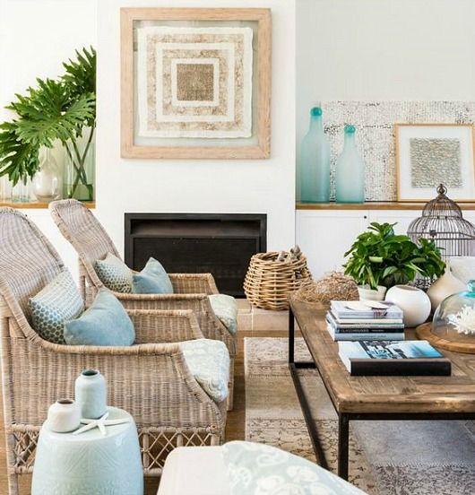 Rattan Chairs For Coastal Beach Style, Beach House Decor Furniture