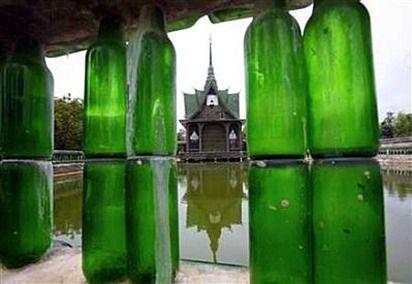 Uso de botellas para decoración