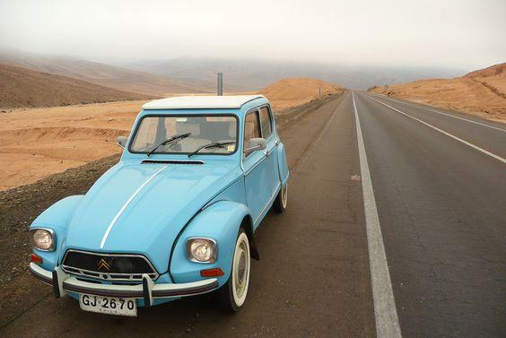 Dyane 1968 en el Km 1000 Norte de Chile