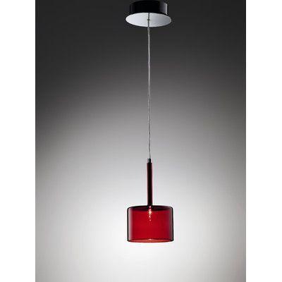 Axo Light Spillray 1 Light Pendant Width / Glass finish: