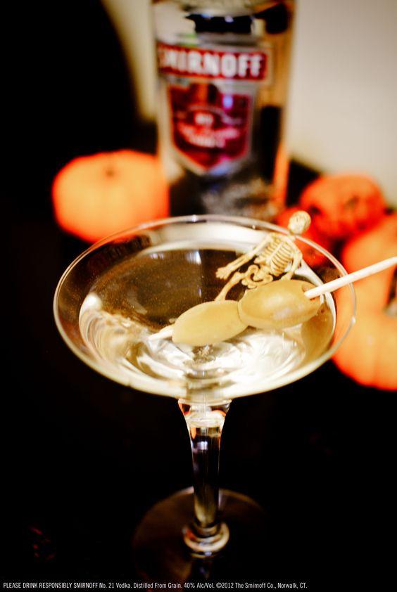 Vodka martini halloween recipe and smirnoff on pinterest for Halloween martini recipes vodka
