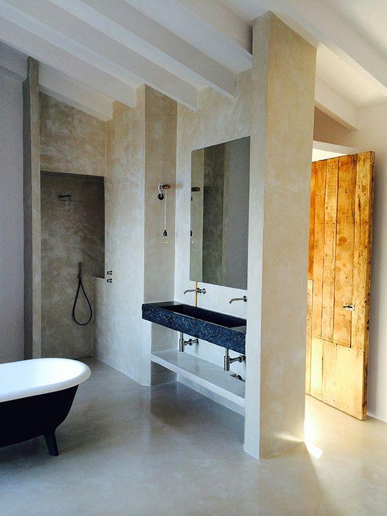 Bathroom by Moredesign.es. COME SEE MORE Rustic Spanish Villa Interior Design Inspiration!